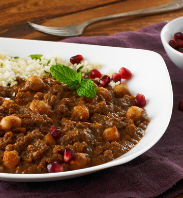 Beef chilli with couscous